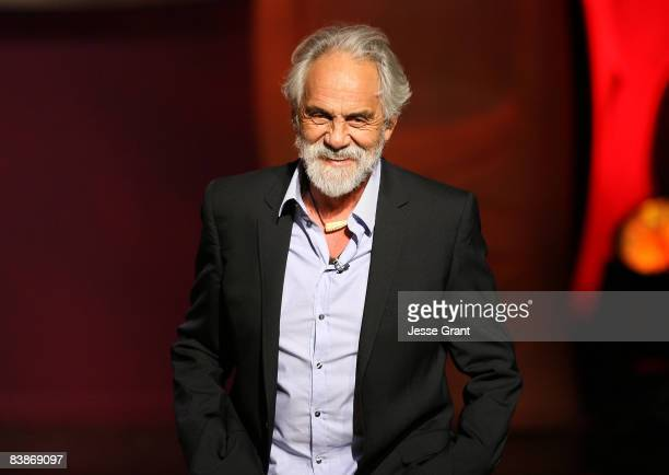 Actor Tommy Chong speaks on stage at Cheech Chong Roasted during The Comedy Festival 2008 presented by TBS at Caesars Palace on November 21 2008 in...