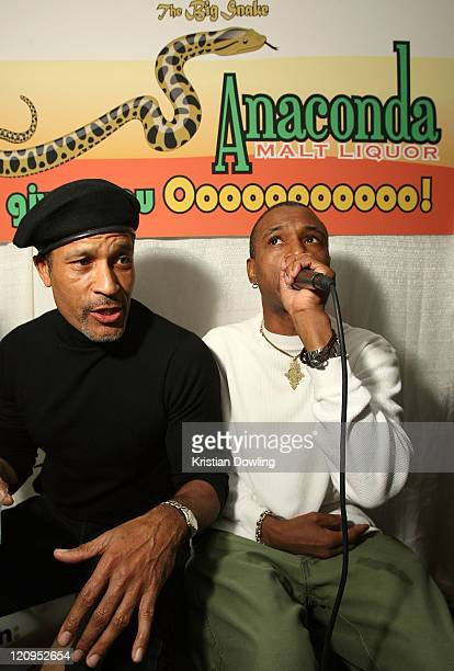 Actor Tommy Davidson and actor Phil Morris attend the Black Dynamite Party at the Film Lounge Media Center on January 19 2009 in Park City Utah