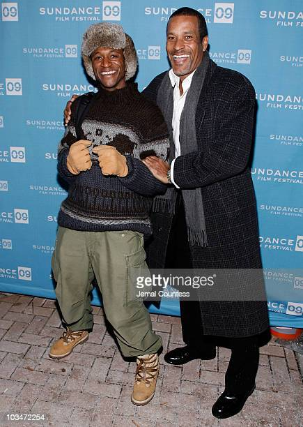 Actor Tommy Davidson and actor Phil Morris attend the premiere of Black Dynamite during the 2009 Sundance Film Festival at Library Center Theatre on...
