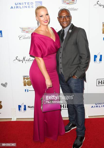 Actor Tommy Davidson and his Wife Amanda Moore attend Ebony Magazine's Ebony's Power 100 gala at The Beverly Hilton Hotel on December 1 2017 in...