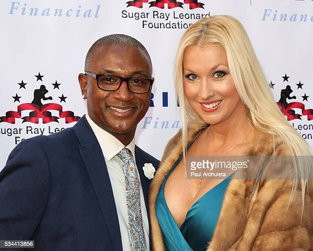 Actor Tommy Davidson and his Wife Amanda Moore attend the 7th annual 'Big Fighters Big Cause Charity Boxing Night' benefiting the Sugar Ray Leonard...