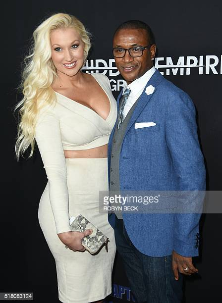 Actor Tommy Davidson and his wife Amanda Moore attend the Los Angeles premiere of 'Meet The Blacks' March 29 2016 at the Arclight Cinema in Hollywood...