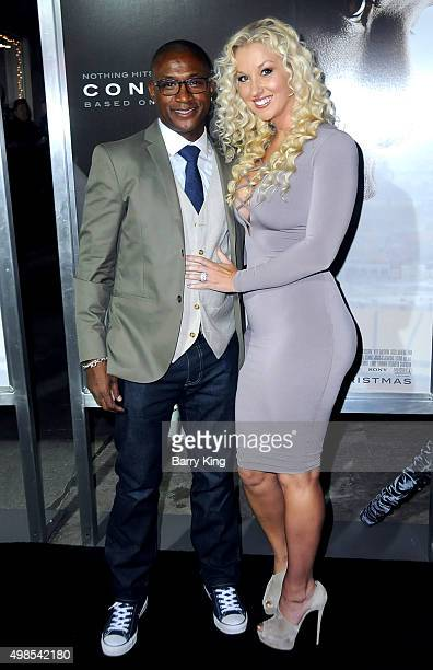 Actor Tommy Davidson and wife Amanda Davidson attend screening of Columbia Pictures' 'Concussion' at the Regency Village Theatre on November 23 2015...
