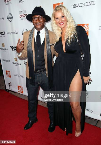 Actor Tommy Davidson and wife Amanda Moore attend the 8th Annual AAFCA Awards at Taglyan Complex on February 8 2017 in Los Angeles California