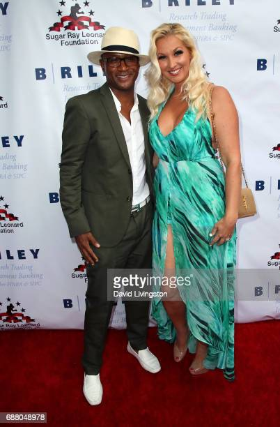 Actor Tommy Davidson and wife Amanda Moore attend the 8th Annual 'Big Fighters Big Cause' Charity Boxing Night at the Loews Santa Monica Beach Hotel...