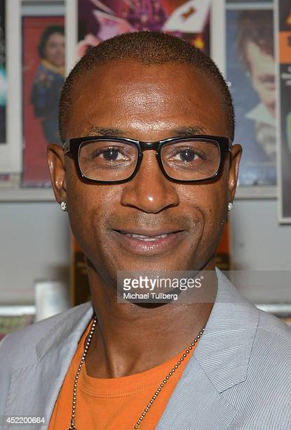 Actor Tommy Davidson attends a signing for the new DVD Black Dynamite at Amoeba Music on July 15 2014 in Hollywood California
