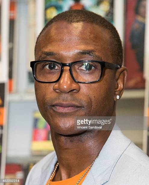 Actor Tommy Davidson attends the Black Dynamite DVD signing at Amoeba Music on July 15 2014 in Hollywood California