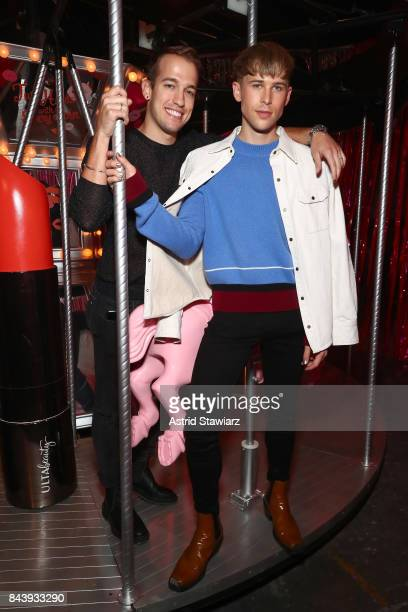 Actor Tommy Dorfman and Peter Zurkuhlen attend the Refinery29 Third Annual 29Rooms Turn It Into Art event on September 7 2017 in the Brooklyn borough...