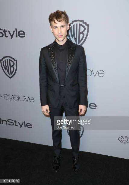 Actor Tommy Dorfman attends the 2018 InStyle and Warner Bros 75th Annual Golden Globe Awards PostParty at The Beverly Hilton Hotel on January 7 2018...