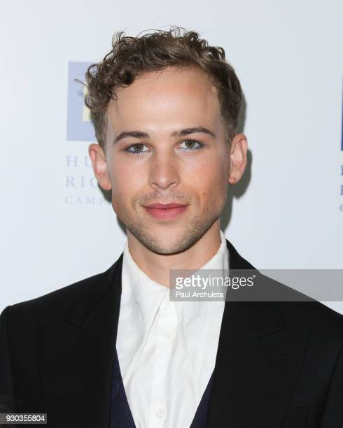 Actor Tommy Dorfman attends the Human Rights Campaign's 2018 Los Angeles Gala Dinner at JW Marriott Los Angeles at LA LIVE on March 10 2018 in Los...
