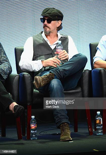 """Actor Tommy Flanagan speaks onstage at the """"Sons of Anarchy"""" panel during the FX portion of the 2012 Summer TCA Tour on July 28, 2012 in Beverly..."""