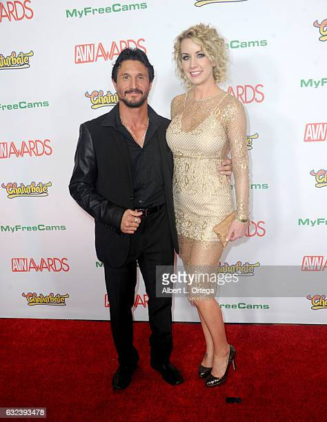 Actor Tommy Gunn and guest arrive at the 2017 Adult Video News Awards held at the Hard Rock Hotel Casino on January 21 2017 in Las Vegas Nevada