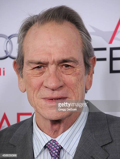 Actor Tommy Lee Jones arrives at the AFI FEST 2014 Presented By Audi The Homesman Premiere at Dolby Theatre on November 11 2014 in Hollywood...