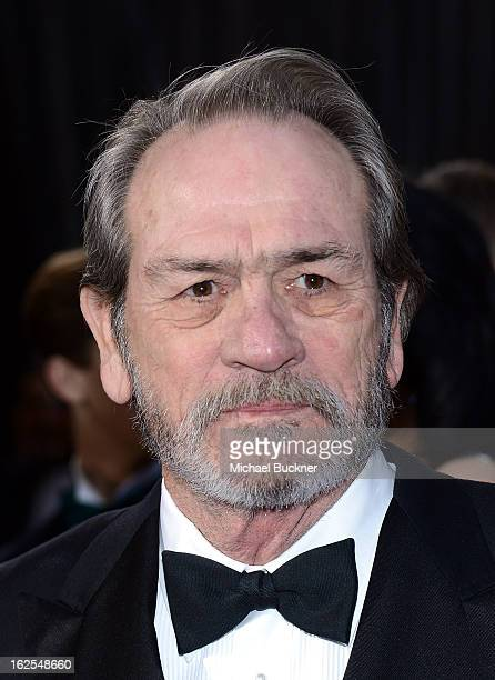 Actor Tommy Lee Jones arrives at the Oscars at Hollywood Highland Center on February 24 2013 in Hollywood California