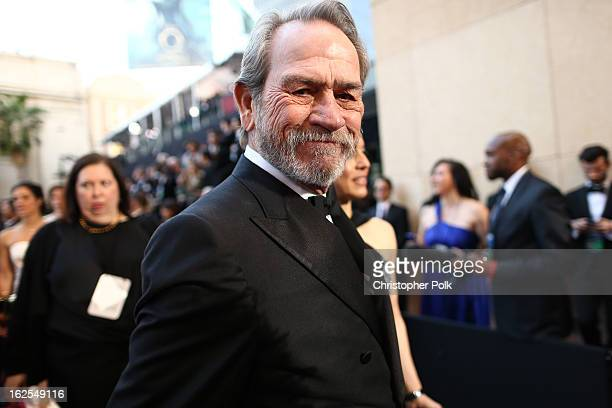 Actor Tommy Lee Jones arrives at the Oscars held at Hollywood Highland Center on February 24 2013 in Hollywood California