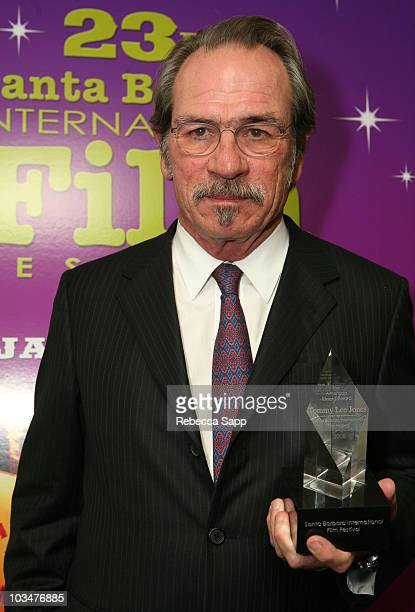 Actor Tommy Lee Jones attends the 2008 Santa Barbara Film Festival American Riviera Tribute to Tommy Lee Jones held at the Arlington on February 1...