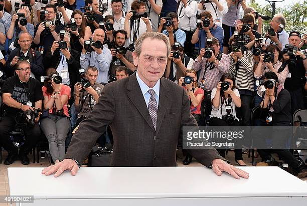 Actor Tommy Lee Jones attends The Homesman photocall during the 67th Annual Cannes Film Festival on May 18 2014 in Cannes France