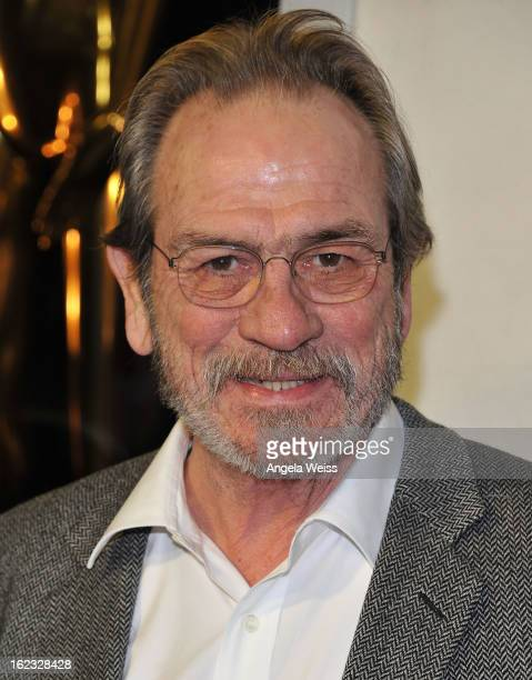 Actor Tommy Lee Jones attends Tom Ford's cocktail event in support of Project Angel Food at TOM FORD on February 21 2013 in Beverly Hills California