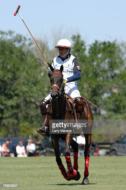 Actor Tommy Lee Jones competes with his Polo Team San Saba in the Stanford US Open at International Polo Club Palm Beach April 16 2007 in Wellington...