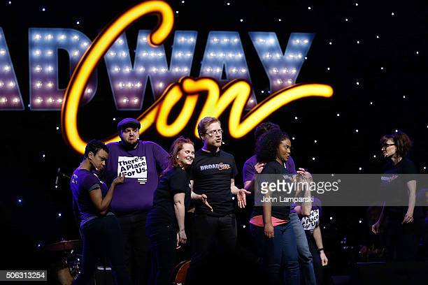 Actor Tommy Tune Anthony Rapp and performers attend BroadwayCon 2016 at the Hilton Midtown on January 22 2016 in New York City