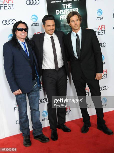 Actor Tommy Wiseau director/actor James Franco and actor Greg Sestero attend AFI FEST 2017 Presented By Audi Screening Of 'The Disaster Artist' at...