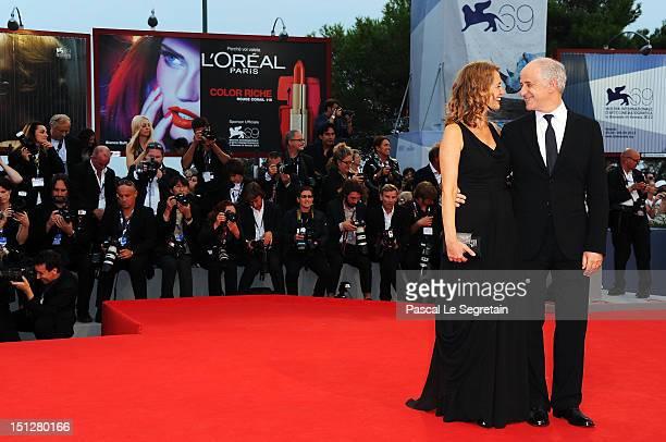 """Actor Toni Servillo and his wife Manuela Lamanna attend the """"Bella Addormentata"""" Premiere during The 69th Venice Film Festival at the Palazzo del..."""