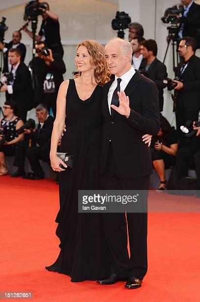 """Actor Toni Servillo and his wife Manuela Lamanna attends the """"Bella Addormentata"""" Premiere during The 69th Venice Film Festival at the Palazzo del..."""