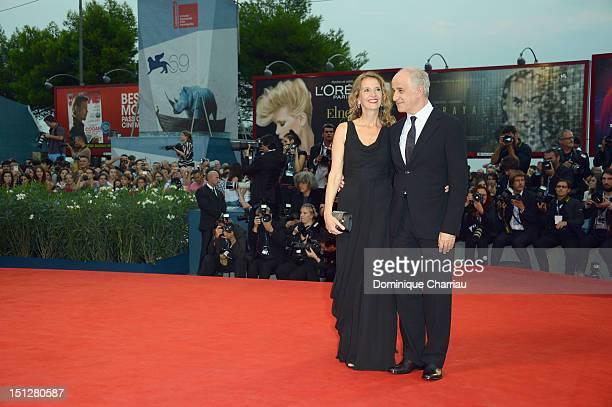 """Actor Toni Servillo and wife Manuela Lamanna attend """"Bella Addormentata"""" Premiere during The 69th Venice Film Festival at the Palazzo del Cinema on..."""