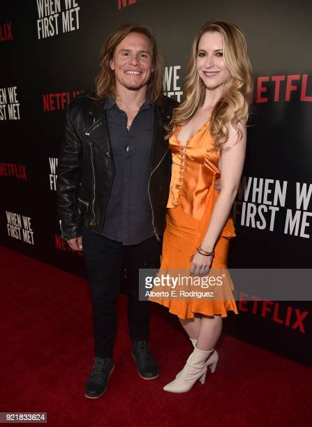 Actor Tony Cavalero and Annie Cavalero attend a special screening of Netflix's When We First Met at ArcLight Hollywood on February 20 2018 in...