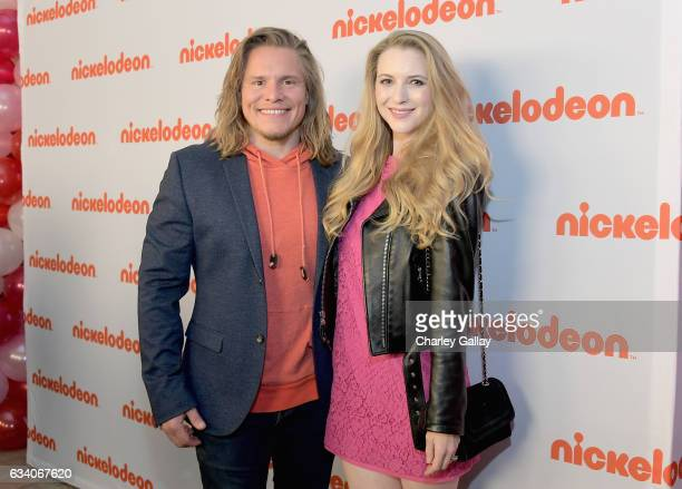 Actor Tony Cavalero and Annie Cavalero attend Nickelodeon's Not So Valentine's Special on February 6 2017 in Los Angeles California