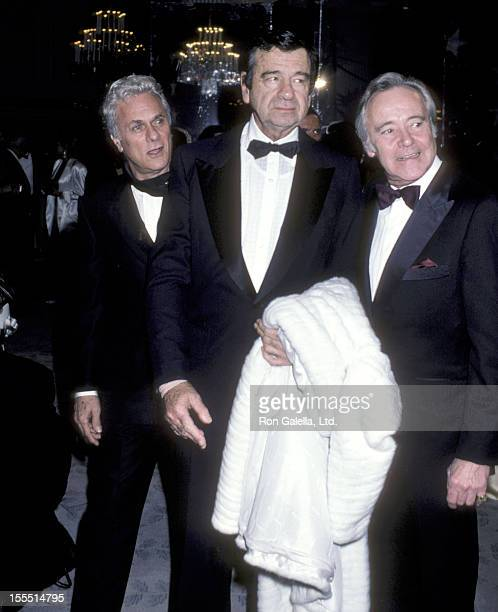 Actor Tony Curtis actor Walter Matthau and actor Jack Lemmon attend the 14th Annual American Film Institute Lifetime Achievement Award Salute to...