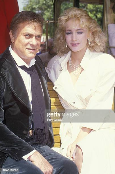 Actor Tony Curtis and wife Andrea Savio attend Universal Studios Anniversary Celebration on May 2, 1984 at Universal Studios in Universal City,...