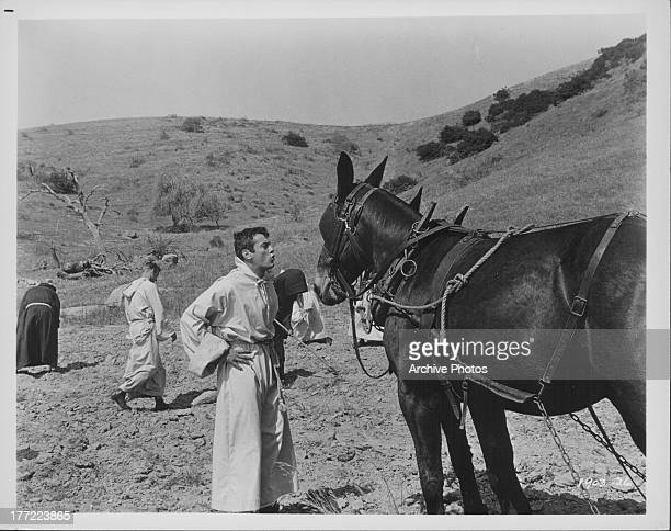 Actor Tony Curtis in a scene from the movie 'Taras Bulba' 1962