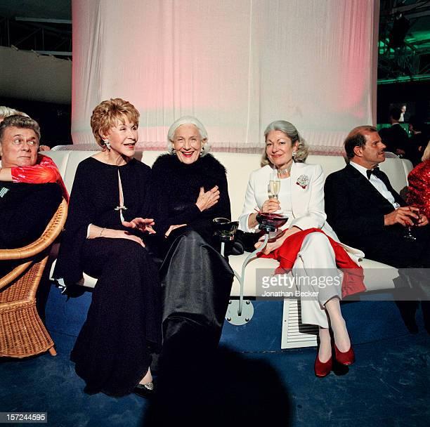 Actor Tony Curtis socialite/philanthropist Betsy Bloomingdale philanthropist Connie Wald socialite Denise Hale and fashion designer Egon von...