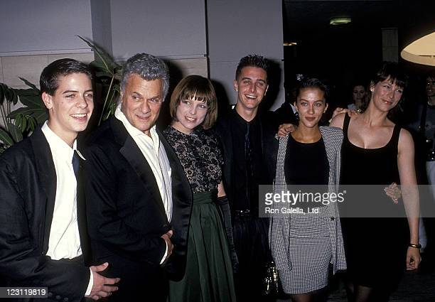 Actor Tony Curtis son Benjamin Curtis daughter Kelly Curtis son Nicholas Curtis daughter Allegra Curtis and daughter actress Jamie Lee Curtis attend...