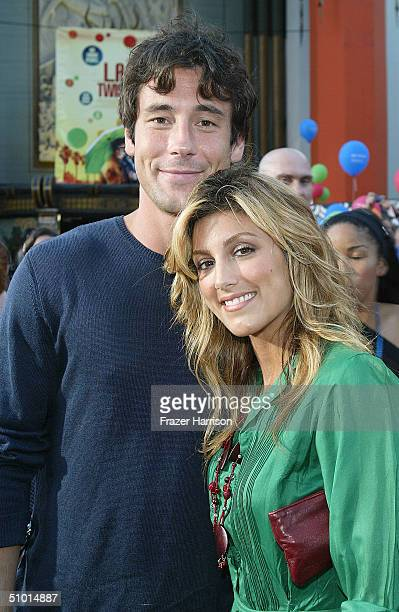 """Actor Tony Daly and actress Jennifer Esposito arrive at the World Premiere of """"LA Twister"""" on June 30, 2004 at the Grauman's Chinese Theatre, in..."""