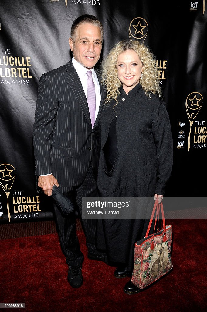 Actor Tony Danza and actress Carol Kane arrive at the 31st Annual Lucille Lortel Awards at NYU Skirball Center on May 1, 2016 in New York City.