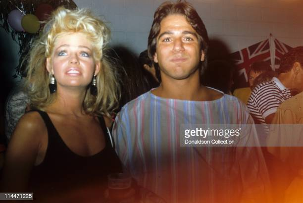 Actor Tony Danza and Actress Teri Copley pose for a portrait in circa 1986 in Los Angeles California