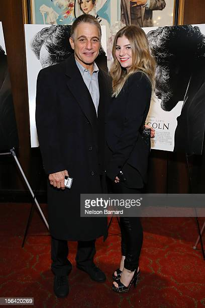 "Actor Tony Danza and daughter Emily Danza attends the special screening of Steven Spielberg's ""Lincoln"" at the Ziegfeld Theatre on November 14, 2012..."