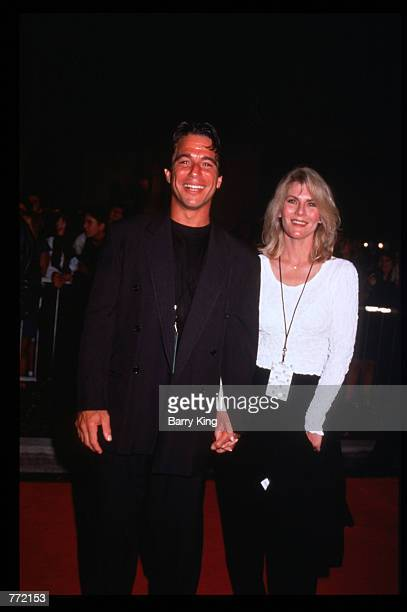 Actor Tony Danza and his wife Tracy Robinson attend the opening of Planet Hollywood September 17 1995 in Los Angeles CA The Beverly Hills branch had...
