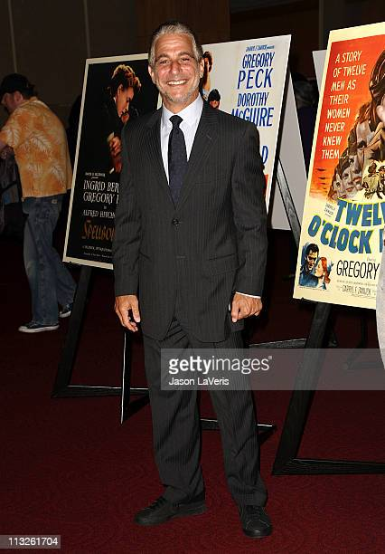 Actor Tony Danza attends the Gregory Peck commemorative stamp first day of issue ceremony at AMPAS Samuel Goldwyn Theater on April 28 2011 in Beverly...