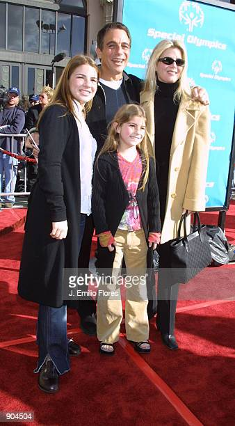 Actor Tony Danza with wife Tracy and daughters Katie and Emily attend the premiere of the 20th anniversary version of director Steven Spielberg's...