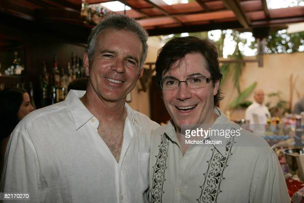 Actor Tony Denison and poker champion Jaime Gold attend the Summer Nights Evening Bash AllIn Poker Celebrity Tournament at Ritual on August 3 2008 in...