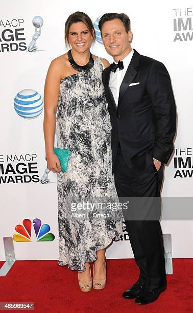 Actor Tony Goldwyn and Anna MuskyGoldwyn arrive for the 44th NAACP Image Awards held at the Shrine Auditorium on February 1 2013 in Los Angeles...