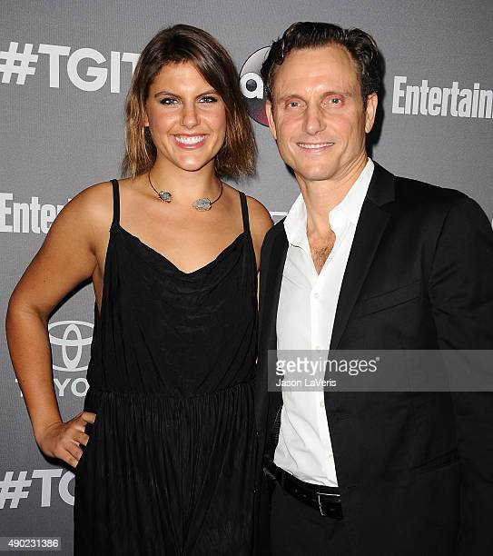 Actor Tony Goldwyn and Anna MuskyGoldwyn attend ABC's TGIT premiere event on September 26 2015 in West Hollywood California