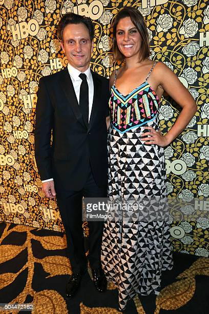 Actor Tony Goldwyn and Jane Musky attend HBO's Official Golden Globe Awards After Party at The Beverly Hilton Hotel on January 10 2016 in Beverly...