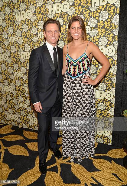 Actor Tony Goldwyn and Jane Musky attend HBO's post 2016 Golden Globe Awards party at Circa 55 Restaurant on January 10 2016 in Los Angeles California