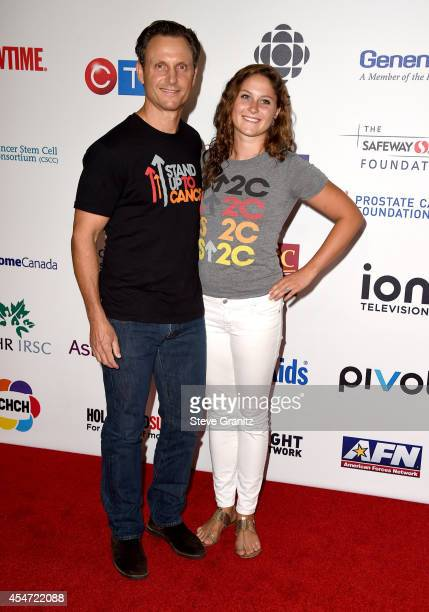 Actor Tony Goldwyn and Tess Frances Goldwyn attend the 4th Biennial Stand Up To Cancer A Program of The Entertainment Industry Foundation at Dolby...