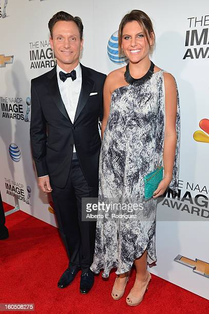 Actor Tony Goldwyn and wife Anna MuskyGoldwyn attend the 44th NAACP Image Awards at The Shrine Auditorium on February 1 2013 in Los Angeles California