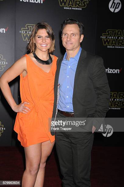 Actor Tony Goldwyn and wife Jane Musky arrive at the premiere of Star Wars The Force Awakens in Hollywood